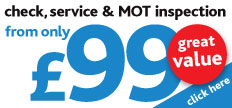 Check, service and MOT inspection Special offer