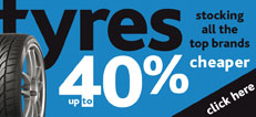 Up to 40% off tyres Special offer